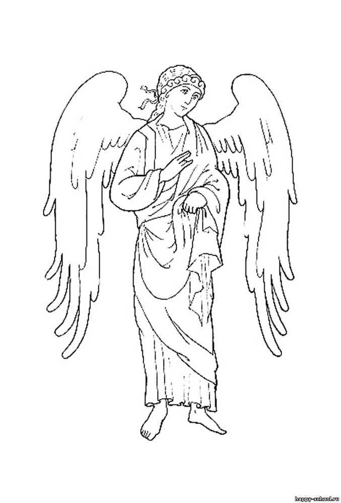Картинки ангела хранителя с крыльями распечатать