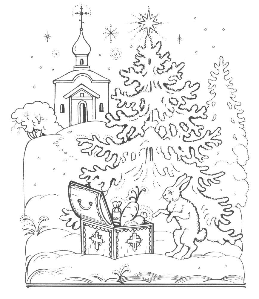 Раскраска к рождеству