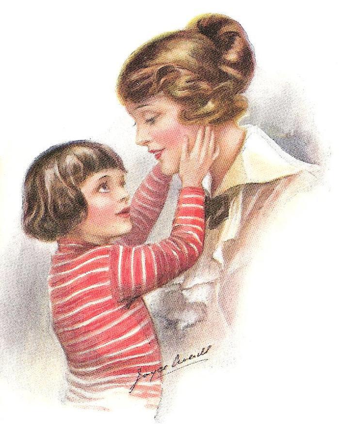 Открытка мама с малышом