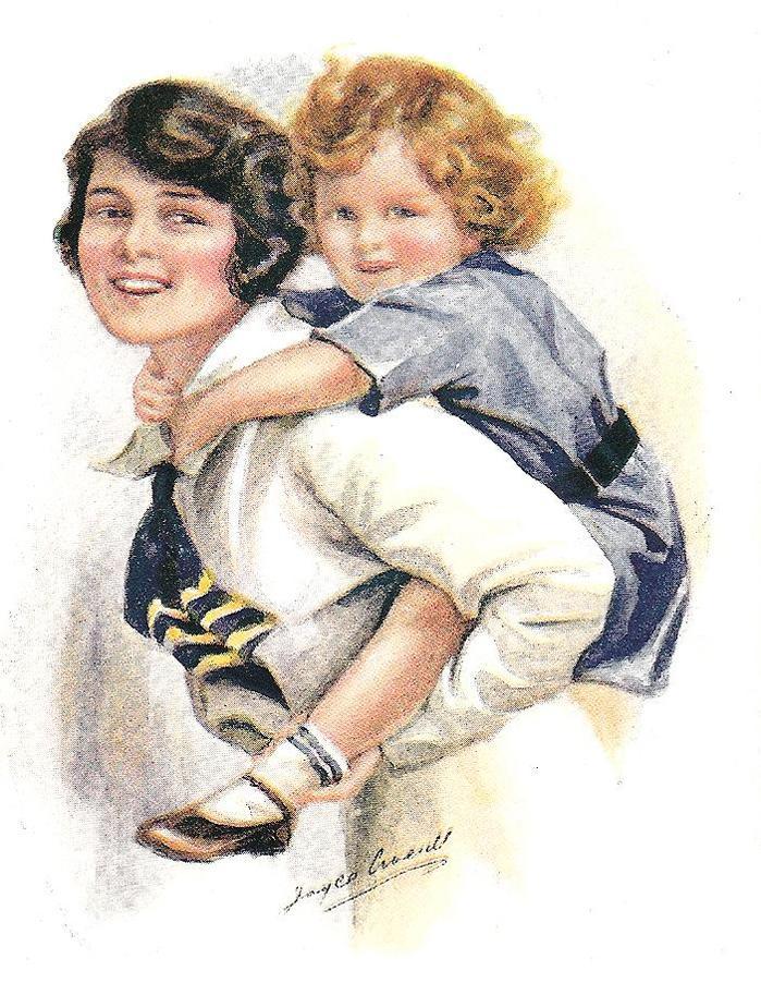 Вышивками, открытки для детей мама