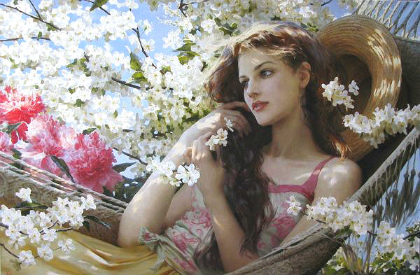 Стих утонуть в цветах