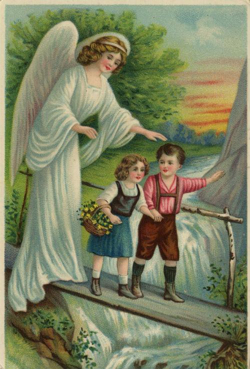 Открытки дети и ангелы