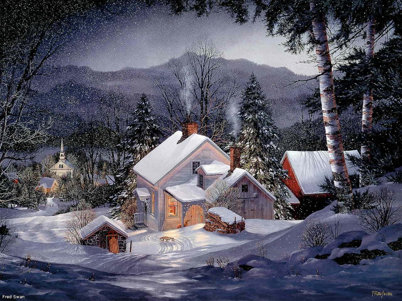 Для открытки, красивая анимация и картинки о зиме