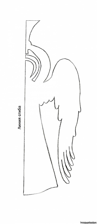 ангел из бумаги-трафарет